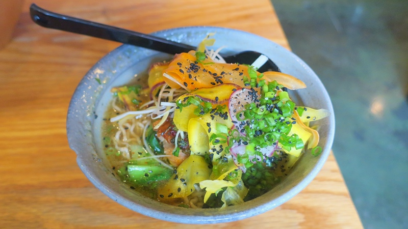 Futo Buta's fire and ice ramen