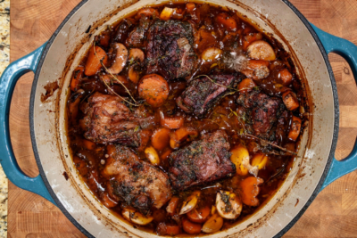 Unpretentious Cooking: Red Wine & Mushroom Braised Short Ribs